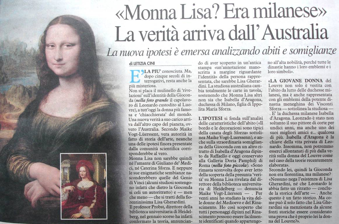 Article in 'La Nazione'