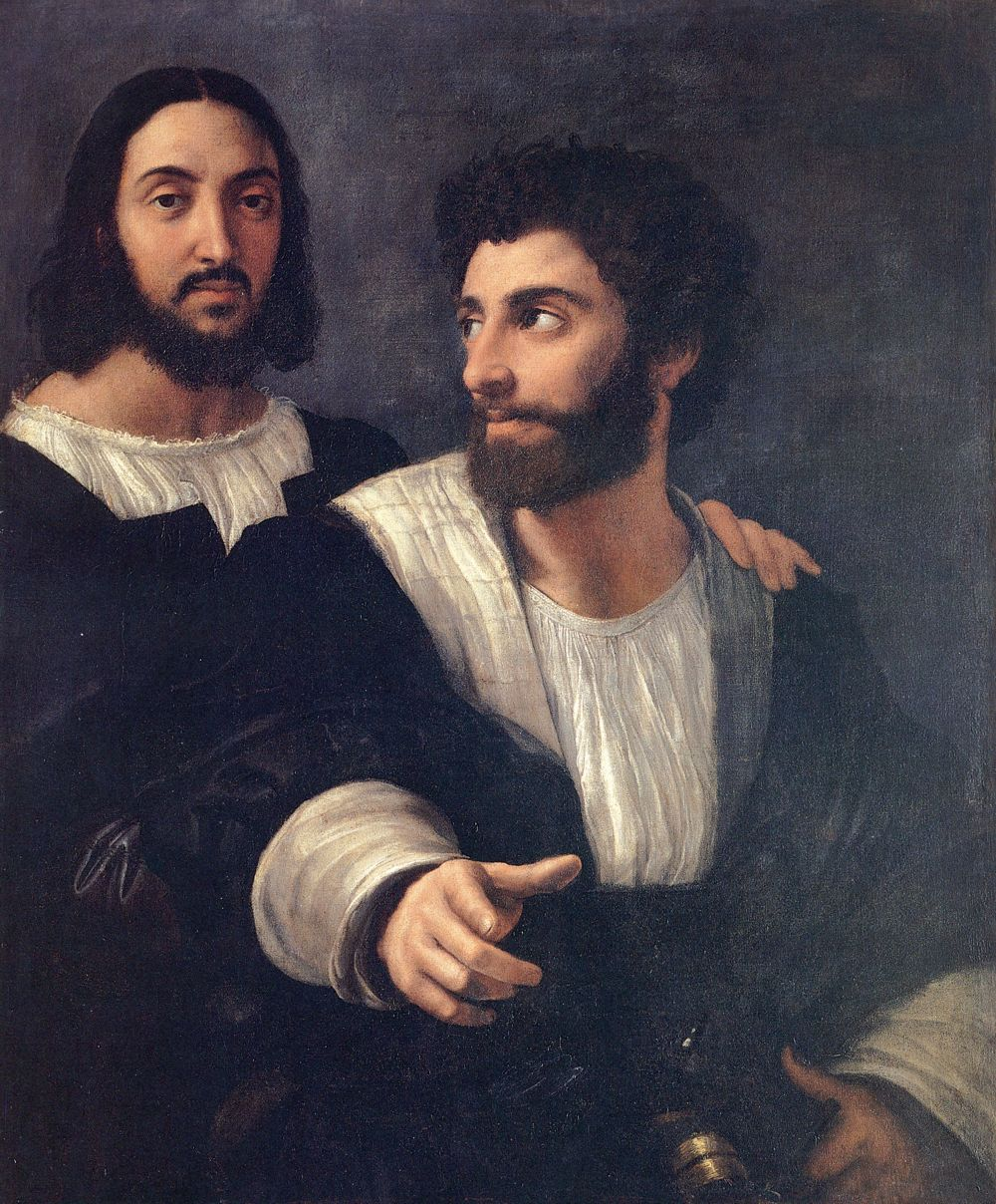 Francesco da Melzo and his friend Raphael