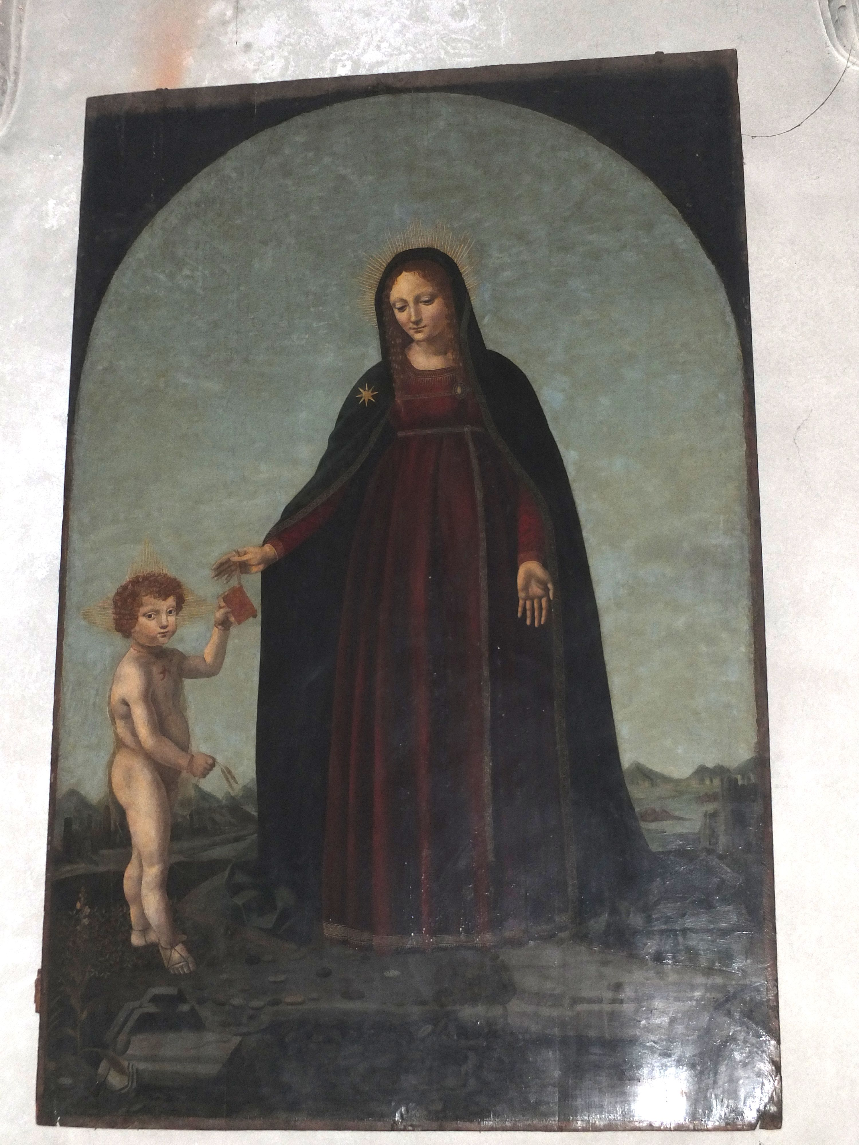 Francesco da Melzo and his mother, Isabella of Aragon as